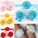 ROEWELL® 5 Sets of Baby's&Girl's HeadBands/ Hair Bows and Barefoot Sandals Flower
