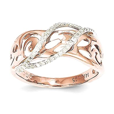 14k Rose Gold Diamond Ring