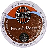 Tully's French Roast Extra Bold Coffee For Keurig K-Cup Brewing Systems 24 K-Cups Count