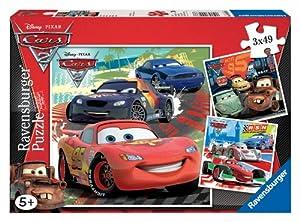 Ravensburger - 09281 - Puzzle Classique - Cars 2 - 3X49 Pièces