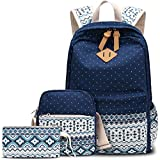 Bagerly Casual Lightweight Canvas Laptop Bag Shoulder Bag School Backpack