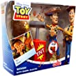 Exclusive Disney Pixar Toy Story Woody Action Figure with Barrel Blaster