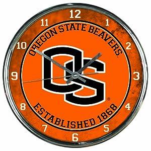 Buy NCAA Oregon State Beavers Chrome Clock by WinCraft