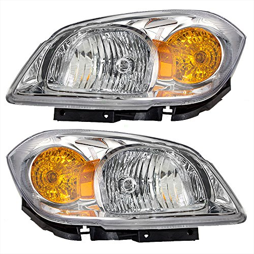 driver-and-passenger-headlights-headlamps-clear-lenses-with-amber-signal-reflectors-replacement-for-