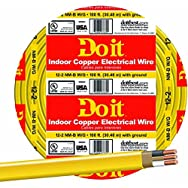 Southwire 28828219 Do it Nonmetallic Sheathed Cable-100' 12-2 NMW/G WIRE