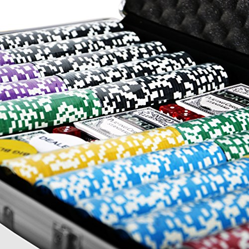 Pokerkoffer 1000 Laser Pokerchips Poker...