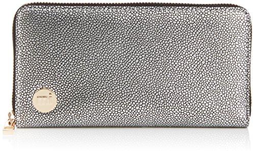 """Mi-Pac, Portafoglio, modello """"Gold"""", Multicolore (Pebbled Silver/Black)"""