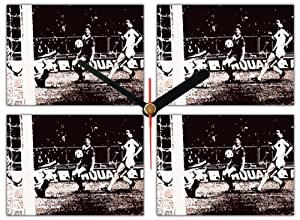 Kenny Dalglish Liverpool Fc 1978 European Cup Final Iconic Wall Clock by AUSTERITY ART