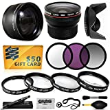 58MM 15 Piece Macro Fisheye Telephoto Lens Filters Set Includes 3 Piece Filter Kit (UV + CPL + Warming) + 4 Piece...