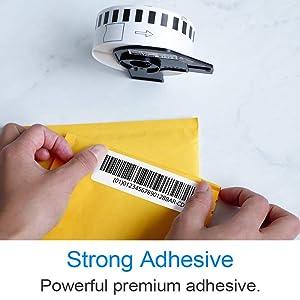 10 Rolls Compatible DK-2210 P-Touch 29mm x 30.8m(1-1/7 x 100') Continuous Address Paper Labels with Refillable Cartridge (Color: Dk2210(10-rolls))