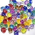 Multi-Colored Acrylic Diamonds Pirate Treasure Jewels for Costume Stage Props, Party Decoration,Wedding and Vase Fillers by Angel&Love