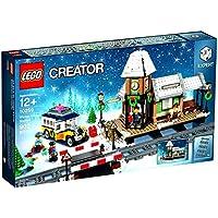 LEGO Creator Expert Winter Village Station 10259 Building Kit (902 Piece) + LEGO NINJAGO Lloyd Minifigure + LEGO Iconic Cave Set