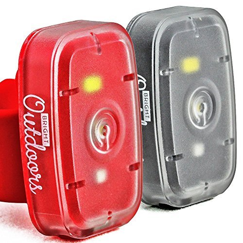 Bright Outdoors LED Safety Lights / Flashlight (1 Pack) Ideal for Running, Dog Walking, Cycling. USB Rechargeable with Bike Strap, Armband, Belt Clip. Blinking, Steady, Red and White Visibility Modes. (Armband Light For Running compare prices)