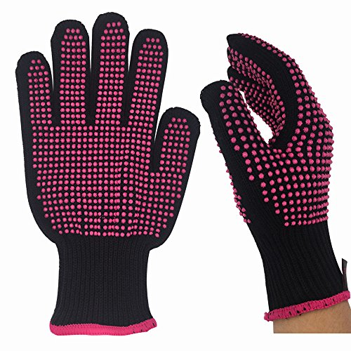 Skidproof Glove for Curling Tool and Hair Styling