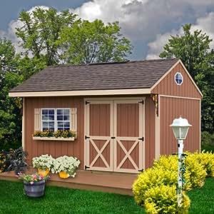 Best barns northwood 14 39 x 10 39 wood shed kit for Garden shed kits menards