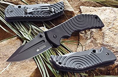 Kizlyar KK0159 Bloke Z D2 Russian Made Titanium Tactical Knife, Black from CAS HANWEI