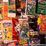 Football Card Collection of 30 Unopened Wax Packs (Late 80s to 2010) - Look for Rookie Cards, Hall of Famers, Special Inserts, and More!! (Packs ARE FUN to Open)....