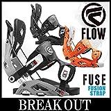 15-16 FLOW / フロー FUSE Fusion Strap メンズ ビンディング バインディング スノーボード L(25.5~29.0cm) BLACK