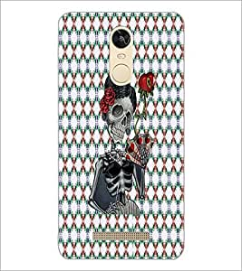 PrintDhaba Skeleton D-3545 Back Case Cover for XIAOMI REDMI NOTE 3 MEDIATEK (Multi-Coloured)