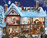 White Mountain Puzzles Christmas House Jigsaw Puzzle (1000 Piece)