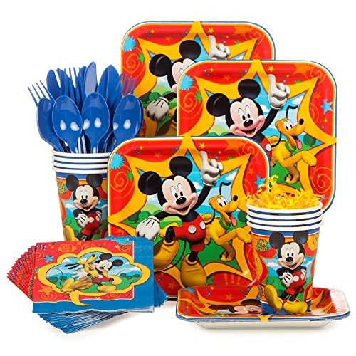 Mickey Mouse Standard Kit (Serves 8) (Mickey Mouse Theme Party Supplies compare prices)