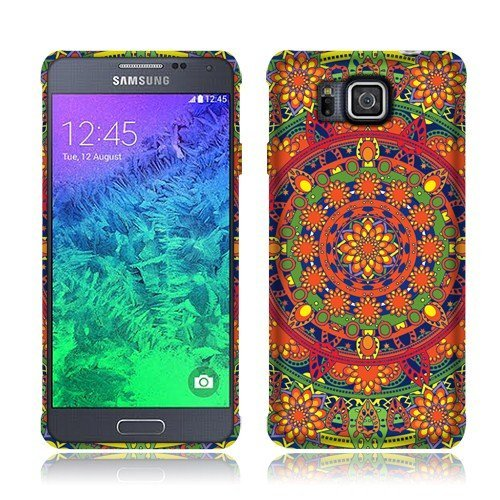 Nextkin Samsung Galaxy Alpha G850 Silicone Skin Soft TPU Gel Protector Cover Case - Tropical Citrus Mandala (Samsung Alpha Case Custom compare prices)