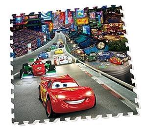 Cars - Alfombra-puzzle foam, 90 x 90 cm (Diset 46842) de Diset - BebeHogar.com