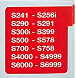 Miele Vacuum Cleaner Bags Type FJM AirClean S241-S256i S290-S291 S300i-S399 S500-S578 S700-S758 S4000-S4999 S6000-S6999 (4 bags 2 filters)
