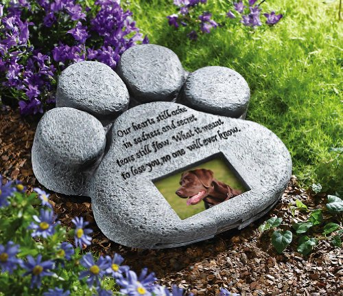 Pet Paw Print Garden Memorial Stone by Winston Brands
