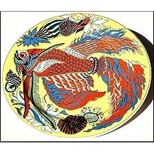 Fighter (21 cm, fondo de colour amarillo) - BOPLA! Porcelana plato - Petite ASSIENTE - llano Piccolo - Small Plate - plato POSTRE DE diámetro 21 cm, 8-1/4 extramatrimonial como plato, plato DE postre, plato DE postre, platos DE ensalada, plato para el BOL, BEILAGEN-TELLER etc, peso: 364 G