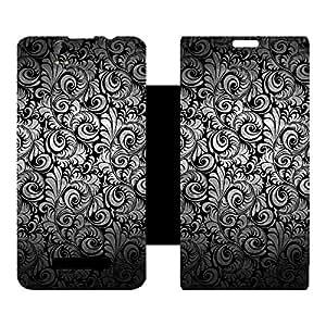 Skintice Designer Flip Cover with hi-res printed Vinyl sticker wrap-around for Lava Iris X1 Grand
