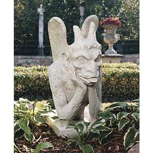 "36"" Ancient French Replica Notre Dame Gargoyle Statue Sculpture Figurine"