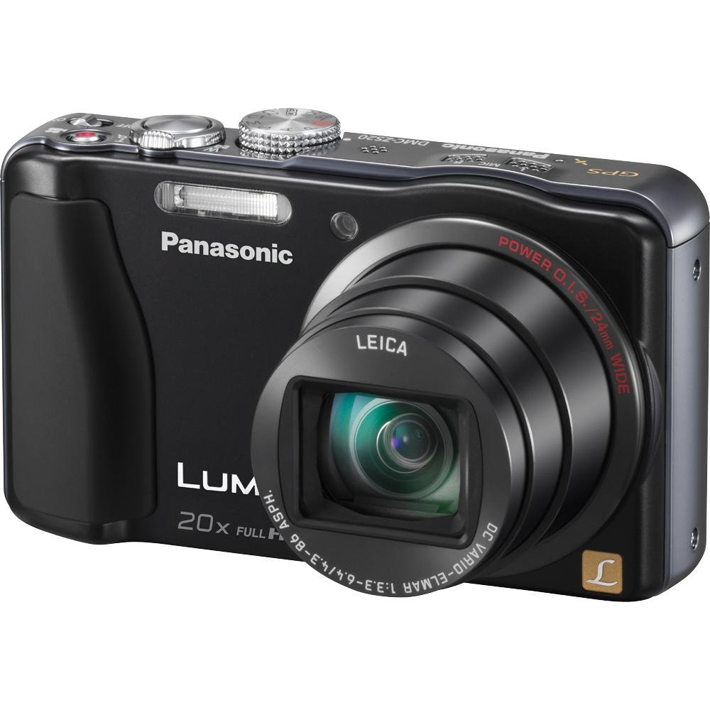 Panasonic Lumix ZS20 14.1 MP High Sensitivity MOS Digital Camera with 20x Optical Zoom (Black)