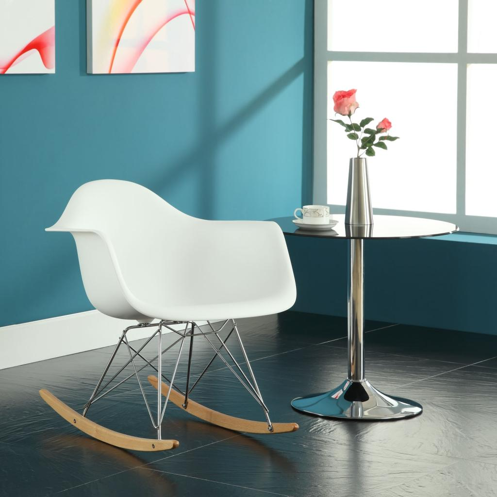 Rocking Chair And Nap Sofa By Missonihome: LexMod Molded Plastic Armchair Rocker In