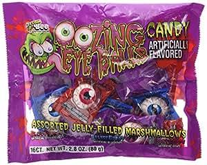 Oozing Eye Balls Candy, 16 Assorted Jelly-filled Marshmallow Eyeballs