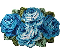 FADFAY Handmade Roses Flower Bedroom Rug Floor Mat Kitchen Rug 43\'\'*28\'\'