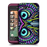 Head Case Designs Owl Aztec Animal Faces Protective Snap-on Hard Back Case Cover for HTC Rhyme