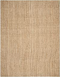 Safavieh Natural Fiber Collection NF447A Hand Woven Natural Jute Area Rug, 8 feet by 10 feet (8\' x 10\')