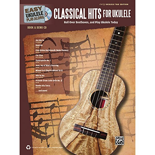 Alfred Easy Ukulele Play-Along Classical Hits For Ukulele Book & Cd front-614785