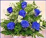 花言葉は「神の祝福」 お誕生日・大切なお祝いなどに最適の青いバラのアレンジ