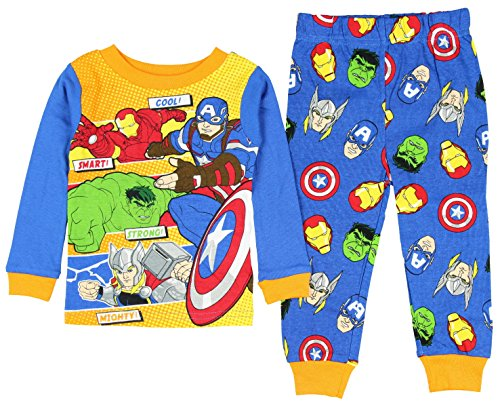Marvel Avengers Character Powers Little Boys' Toddler 2 Piece Pajama Set (5T) (Marvel Superheroes Pajamas compare prices)