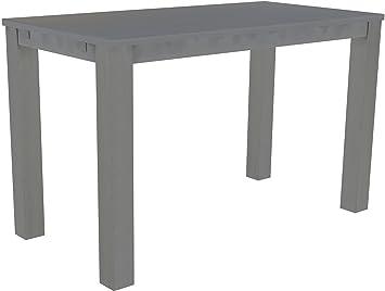 Brasil High Table 'Rio' 177x 90cm, Solid Pine Wood, Colour: Silk Grey