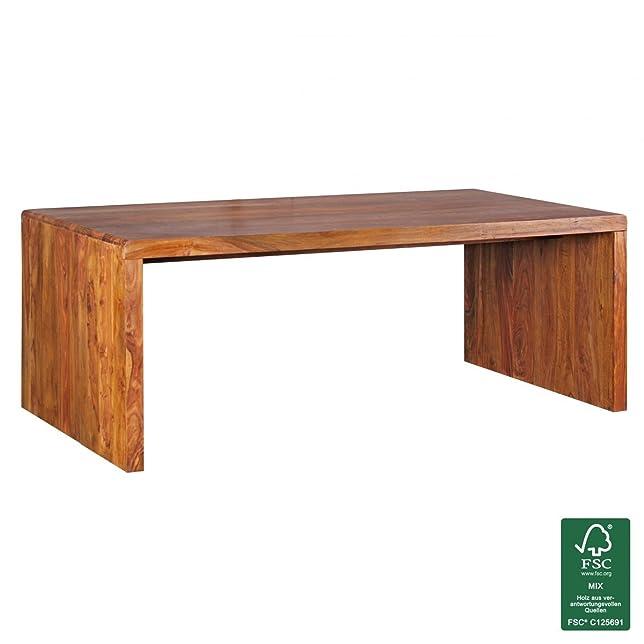Soggiorni Ling Design colore legno massiccio Sheesham scrivania 200 x 100 x 76 cm