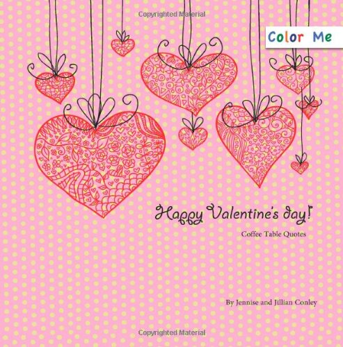 Color Me Valentine'S Day Coffee Table Quotes