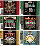 Set of Six Boulevard Brewing Company Kansas City Missouri Brewery Bottle Labels