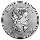 カナダ メイプルリーフ 5ドル シルバーコイン 1オンス 31.1グラム 純銀 銀貨 2016年製造