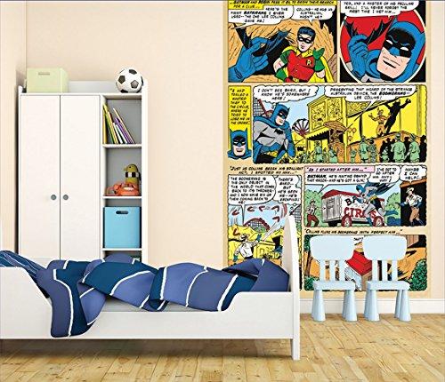 1 Wall Papier Peint Facile À Poser Motif Batman Comic Panneau 1,58