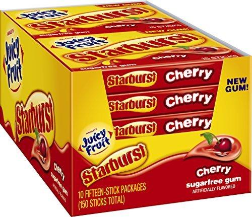 Juicy Fruit Starburst Gum, Cherry, Sugar-Free, 1.428 Ounce (Pack of 10) by Juicy Fruit (Cherry Juicy Fruit compare prices)