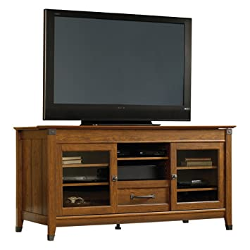 Sauder Carson Forge Entertainment Credenza - Washington Cherry
