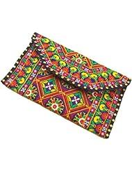 MinkysDecor Indian Traditional Antique Handwork Hand Embroidered Shopping Bag Shoulder Bag Hobo Bag Sling Bag... - B01I11VQ7U
